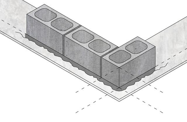 Zidanje betonskim blokovima