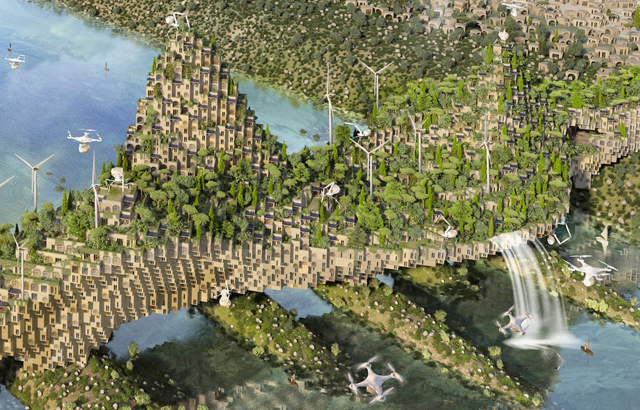 5 Farming Bridges - Vincent Callebaut Architectures