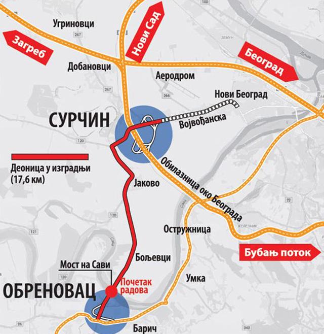 Obrenovac Karta Srbije Superjoden