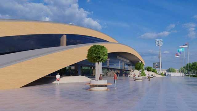 The future appearance of the athletics hall complex in Novi Sad
