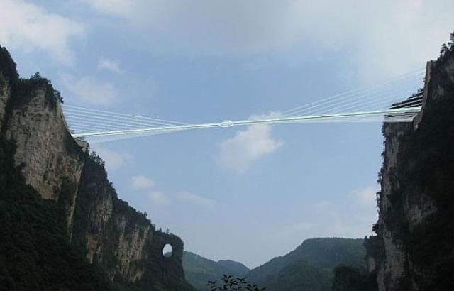 Najduži stakleni most na svetu uskoro će biti izgrađen u Kini - Gradjevinarst...