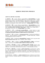 Kribone - Proizvodni program