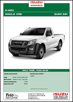 Isuzu D-MAX Single/Space/Crew