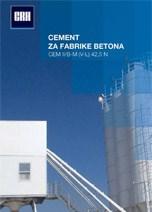 CRH-Cement za fabrike betona CEM II V-L rinfuzni