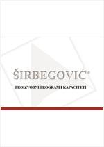 Širbegović Inženjering - Proizvodni program i kapaciteti