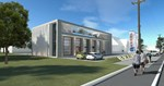 Nova upravna zgrada firme koja je u izgradnji 3D