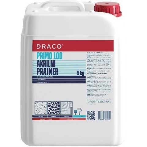 DRACO PRIMO 100 - Prajmer za polimer-cementne premaze, zaštitne fasadne premaze na cementnim i betonskim podlogama - Namena: priprema betona, estriha i mortova (maltera) za nanošenje polimercementnih premaza. Potrošnja: 0,2–0,3kg/m²