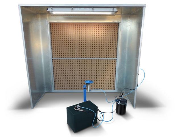 Kabina za likaranje sa suvim kartonskim filterima
