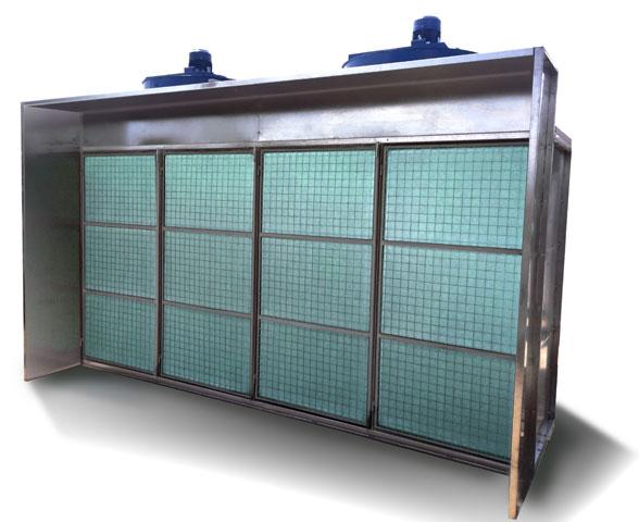 Kabina za lakiranje sa suvim filterima