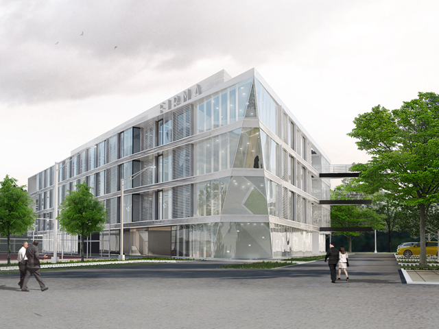 Poslovni objekat na Novom Beogradu - Objekat je spratnosti P+3, bruto nadzemnih etaža oko 4000kvm. Vizuelno predstavlja jedan od najsavremenijih objekata.