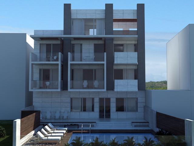Apartmani u Grčkoj - Aprtmanski sadržaj je na I i II spratu. U prizemlju je, osim ulaznog hola, projektovana sauna i teretana.