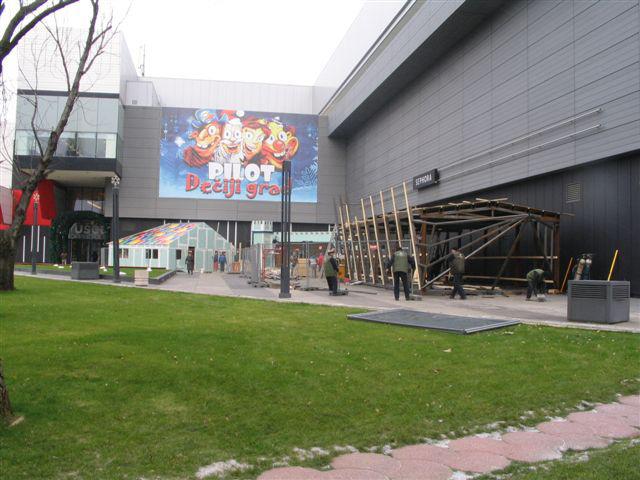 Čelična konstrukcija dečijeg grada-TC Ušće