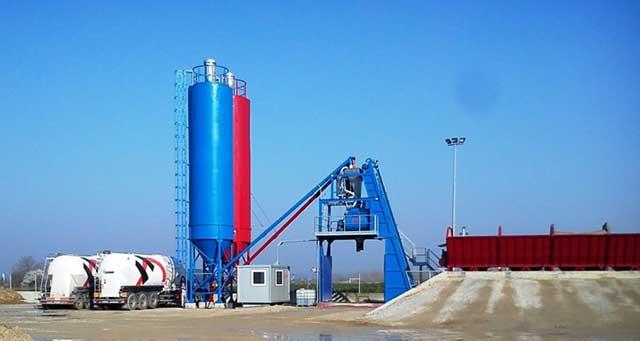 Betonjerka - punjenje silosa
