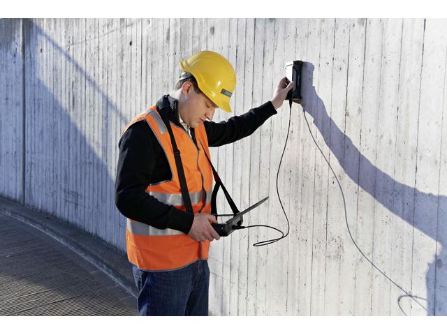 Profometer PM-600 - napredni merač betonske pokrivke za precizno i nedestruktivno merenje betonske pokrivke i dijametra armature i detekciju lokacije armature upotrebom principa vrtložne struje sa impulsnom indukcijom kao mernim metodom. Ovaj instrument dolazi u sastavu sa Univerzalnom sondom uključujući  tačka sondu svrsishodnu za oblasti sa gustim aranžmanom armature kao što su stubovi, grede i slično.