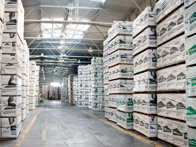 Siniat proizvodi, skladište