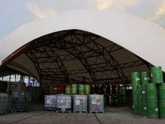 Nadkriveno skladište različitog industrijskog otpada