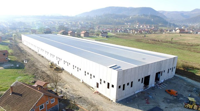 Proizvodni objekat - investitor: SPORTEK DOO - Ključ u ruke, 6.171m², Kotor Varoš, 2017.