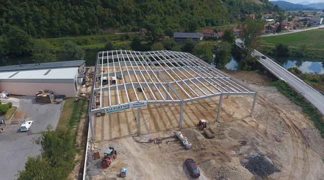 Proizvodni objekat - investitor: FAH-KOŽAR DOO - AB konstrukcija, 2.560m², Visoko, BiH, 2017.
