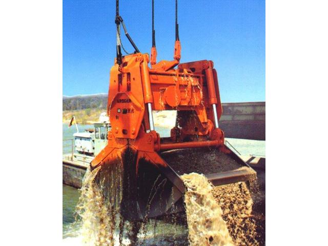Motor-hidrauličan greifer za vađenje šljunka i peska iz vode do 100 m dubine