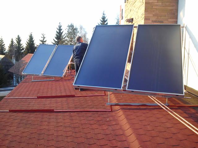 Instalacija za pripremu STV  pomoću solarne energije - Hotel  na Kopaoniku, Srbija