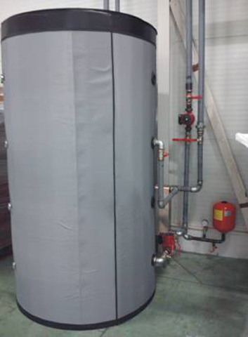 Toplotna podstanica instalacije za korišćenje otpadne toplote iz proizvodonog procesa za grejanje hale površine 2000m²