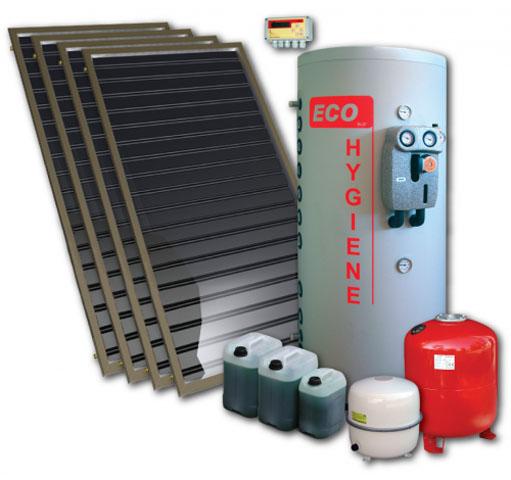 Solarni komplet Eco flow - 5 za pripremu STV i podršku grejanju