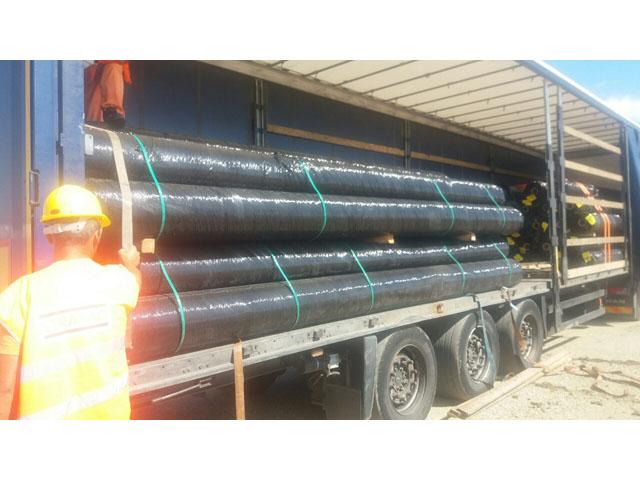 Kamionski prevoz geotekstila