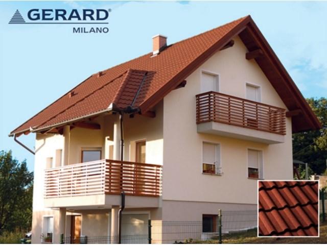 GERARD® MILANO - Korišćenjem vrhunske tehnologije, razvijena je krovna ploča GERARD MILANO kao dodatak širokom asortimanu profila. Uz vanvremenski izgled tradicionalnih mediteranskih krovova, arhitekte i projektanti će uživati u radu s mekim linijama i u raznolikosti ovog profila čvrstih spojeva.