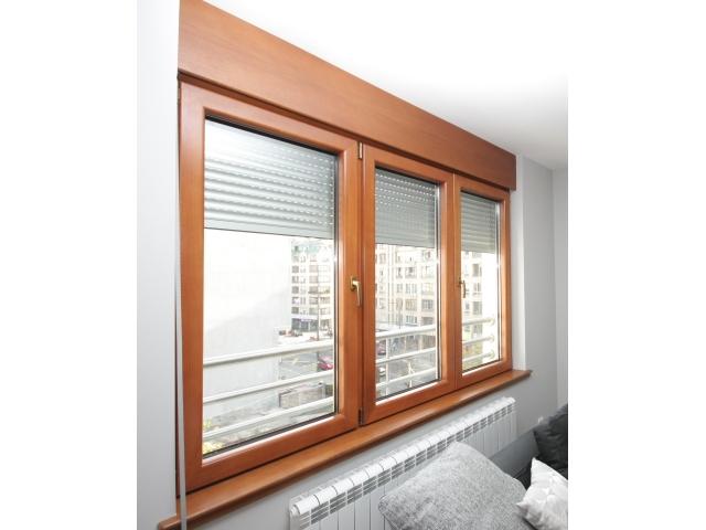 Aluminijum-drvo prozor, potprozorska daska i maska roletne