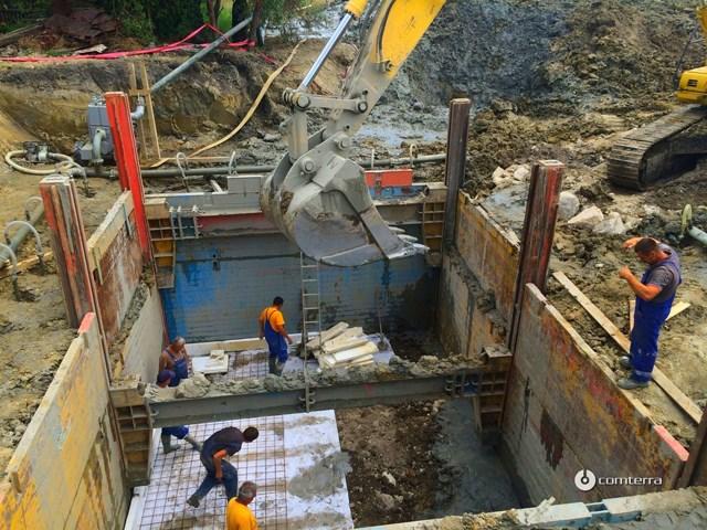 Podgrađivanje građevinskih jama sa kliznom KRINGS oplatom DGPV6000 - Najam i prodaja KRINGS oplate