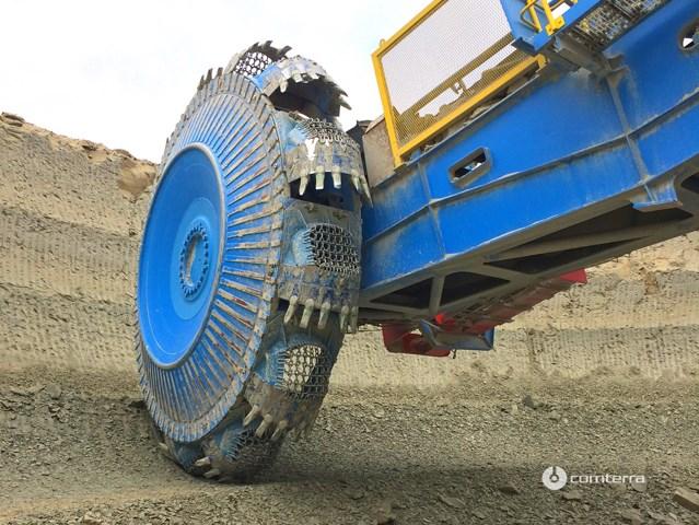Sanacija kofica rotornog bagera FAM - cementara Lafargeholcim Beočin primenom ESCO habajućih delova