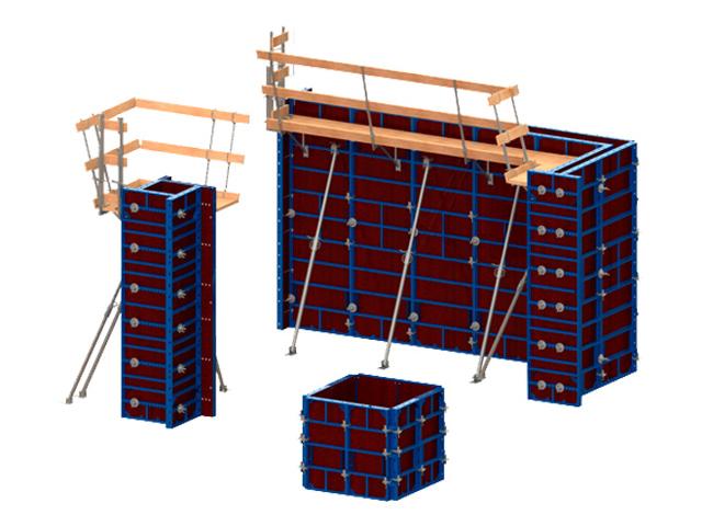 VARIECO - Lagana oplata  bez upotrebe dizalice. 60kN/m² pritiska do 3.00m; 40 kN/m² pritiska do 4.50m; Doka Frami kompatibilno