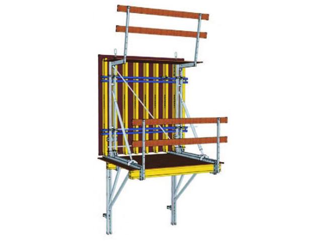 JEDNOSTRANI POTPORNI SUSTAV - Namenjena je za betoniranje kada ne može biti postavljena dvostrana oplata. Upotrebljava se kod potrebe izdržljivosti pritiska betona na temelju, kroz potporni okvir. Jednostrani sistemi potpore omogućavaju gradnju betonskih zidova visine do 8 m.