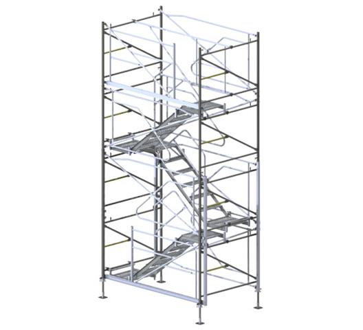 NOSIVA SKELA TOP TOWER 40 - Koristi se prilikom betoniranja: ploča s visinom poda od 6 m; nagnutih ploča i konstrukcija na mestima gde se pojavljuju vodoravna opterećenja; perimetara visokih zgrada i konstrukcija kao elementa sigurnog sistema oplate; mostova, tunela i ostalih inženjerskih konstrukcija.