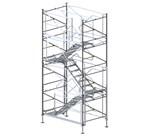 STEPENIŠNI TORANJ TT 40 - Ima područje široke primene od oplaćivanja velikih zidnih površina, uključujući izradu obložnih betonskih površina, pri oplaćivanju standardnih građevinskih objekata, kao ekonomski razumnih varijanti te u inženjeringu mostova i prilagođavanju različitim monolitnim konstrukcijskim oblicima.