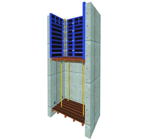 VARIANT KONZOLNE K PLATFORME - Sastavljena konzolna skela se koristi prilikom rada sa skelom na uspravnim delovima zgrada, zaštiti krovova ili rubova.