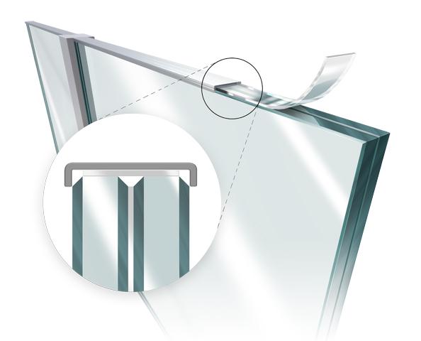 Fiksiranje šina kod staklenih ograda