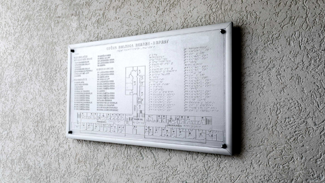 Orijentacioni plan - zidni, Opšta bolnica Berane