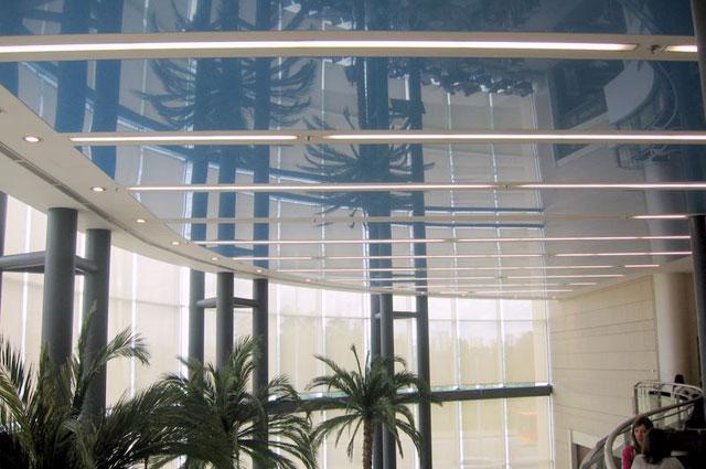 Dekorativni elastični PVC plafon – DPS, Poljska i LVT podne obloge - TC Delta City, Novi Beograd, Srbija, 2007.