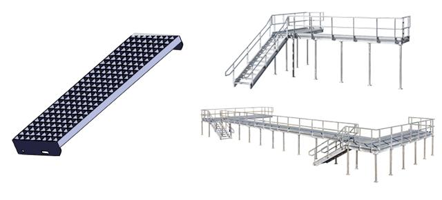 Rešetkasto vareno gazište za stepenice