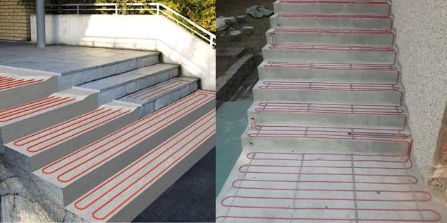 Grejni kablovi - montaža na stepeništu