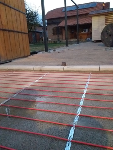 Grejni kablovi - montaža (otapanje snega i leda)