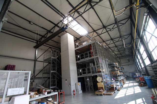 """Skladišna hala """"Gasteh"""" Inđija, 1067m² - Izvedeni radovi: čelična konstrukcija, fasada, krovni pokrivač"""