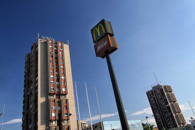 """Reklamni stub """"Mc Donalds"""" Novi Sad - Izvedeni radovi: čelična konstrukcija"""