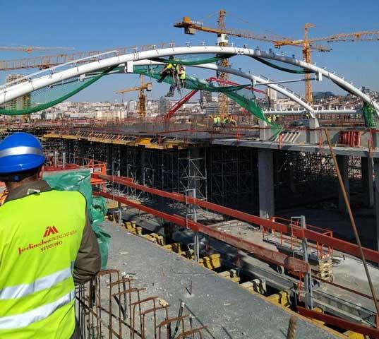 Beograd na vodi - TC Galerija - Montaža čelične konstrukcije krovova sa ETFE pokrivačem