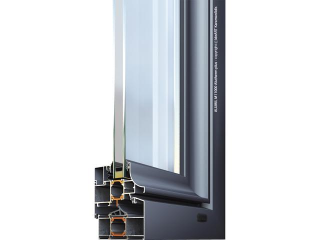 M11000 ALUTHERM PLUS - M11000 ALUTHERM PLUS je sistem namenjen za izradu vrata, prozora i fiksnih pozicija, sa termičkim prekidom. Ovaj sistem karakterišu izuzetne mehaničke osobine i perfektna termoizolacija. U razvoj sistema M11000 je ugrađeno višedecenijsko iskustvo u dizajniranju arhitektonskih sistema, kao i sva moderna svetska dostignuća. M11000 ALUTHERM PLUS je sertifikovan kod instituta IFT Rozenhajm.