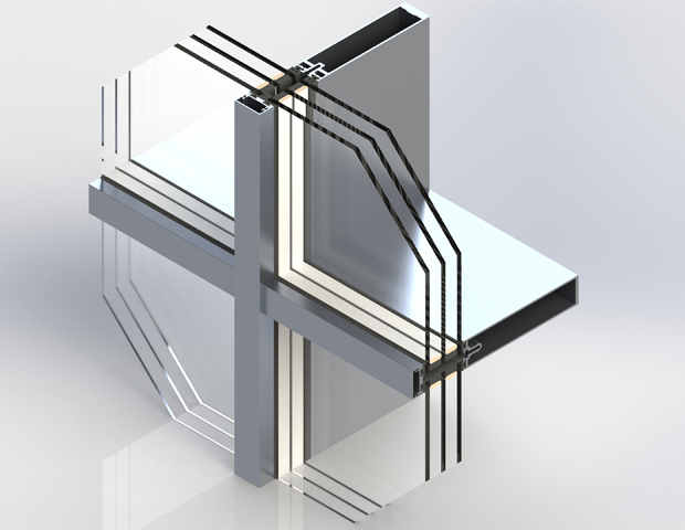 F35 Staklena fasada - Širina profila: 35mm; zastakljenje: 50mm; kompaktibilnost sa ostalim FEAL-ovim sistemima; iIzvrsna statička svojstva; izvrsna termička svojstva