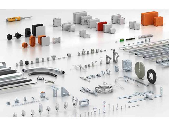 Sistemi za spajanje i pričvršćivanje firme OBO - bezbedno spajanje i nošenje instalacija svih vrsta. Da biste montirali brže i uštedeli dragoceno vreme - Sistemi razvodnih kutija; Uzidni i sistemi za šuplje zidove; Stezni sistemi; Sistemi kablovskih uvodnica; Sistemi za pričvršćivanje kablova i cevi - plastika; Sistemi za pričvršćivanje kablova i cevi - metala; Specijalni sistemi za pričvršćivanje kablova i cevi; Sistemi cevi; Sistemi stezaljki nosača; Šine; BBS lučne obujmice; Navojni i udarni sistemi