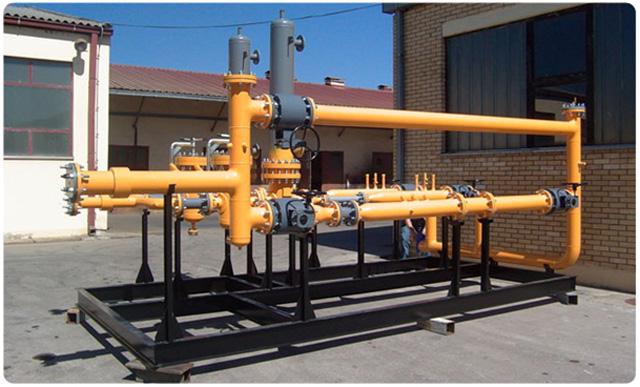 Gasifikacija industriskih objekata - Izvodi se kompletna gasna instalacija od rezervara TNG sa isporukom kompletne merno-regulacione i sigurnosne opreme
