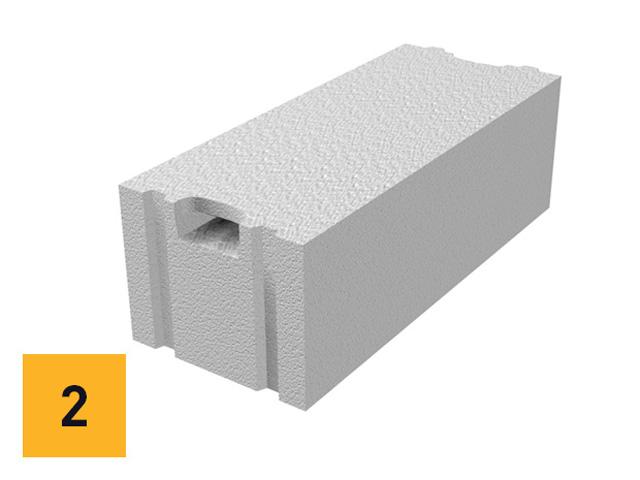 Ytong zidni blok - upotrebljava se za gradnju nosećih ili ispunskih, unutrašnjih i spoljašnjih zidova.